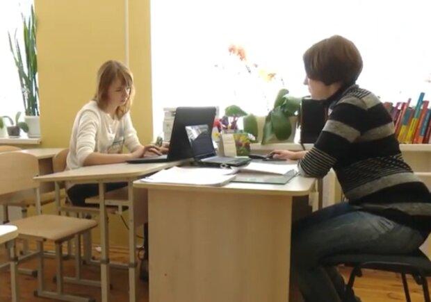 Робота шкіл під час карантину, кадр з відео
