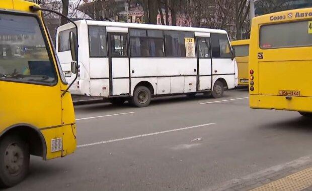киевские маршрутки, скриншот из видео