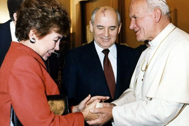 Подружжя Горбачових у Ватикані