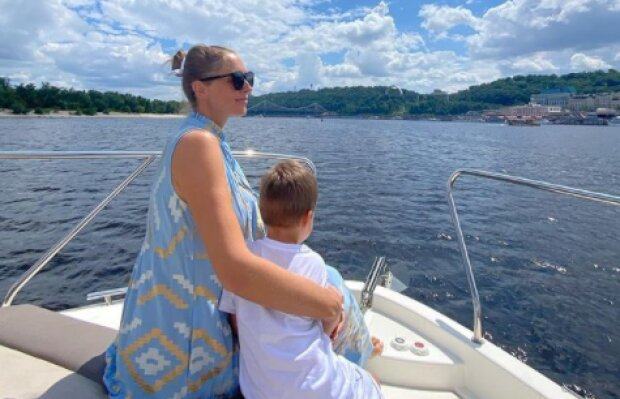Екатерина Осадчая с сыном, фото с Instagram