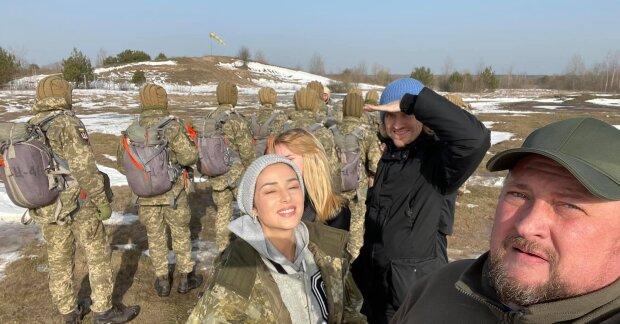 """Злата Огневич у """"військовому турі"""", фото: Facebook"""