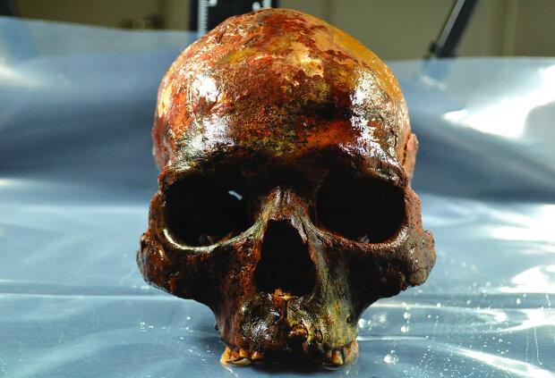 череп человека мезолита, фото The History Blog
