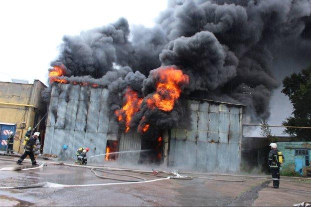 пожар на СТО