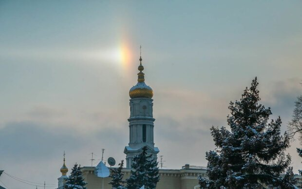Гало над Харьковом, фото: Instagram