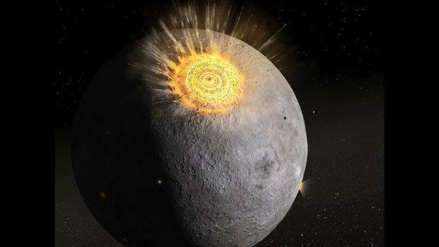 Прямо під час затемнення в Місяць врізався метеорит: фото