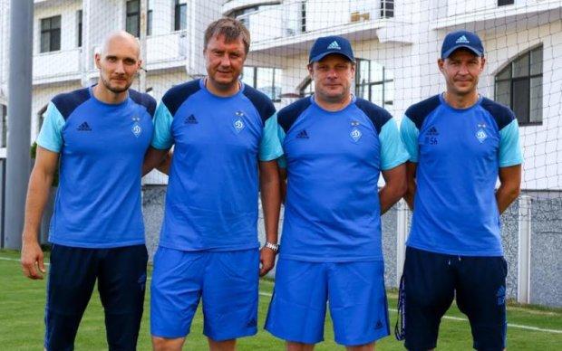 Динамо провело перше тренування з новим тренером