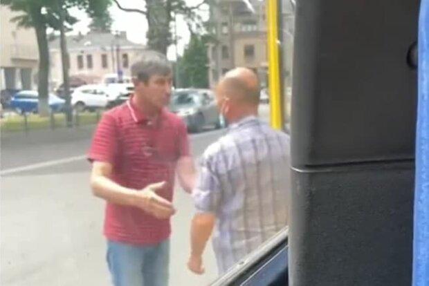 нападение на водителя, скриншот из видео