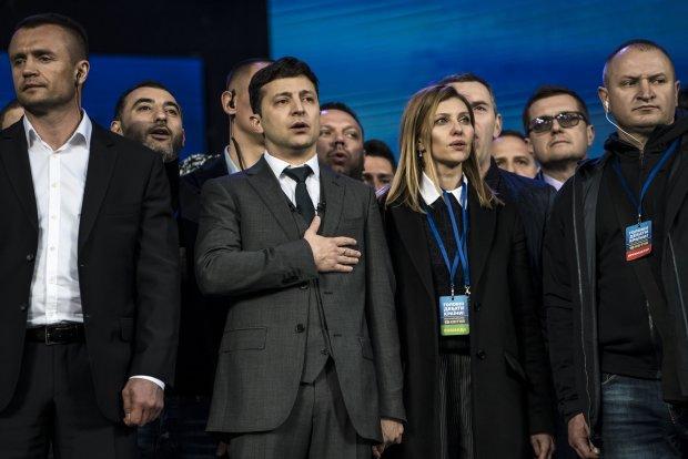 Владимир Зеленский во время дебатов