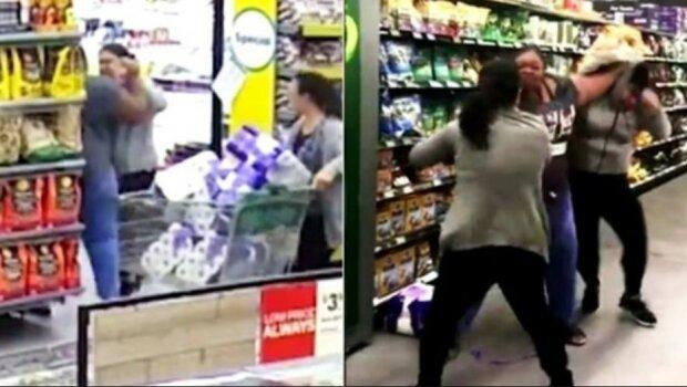 Драка в магазине, скриншот видео