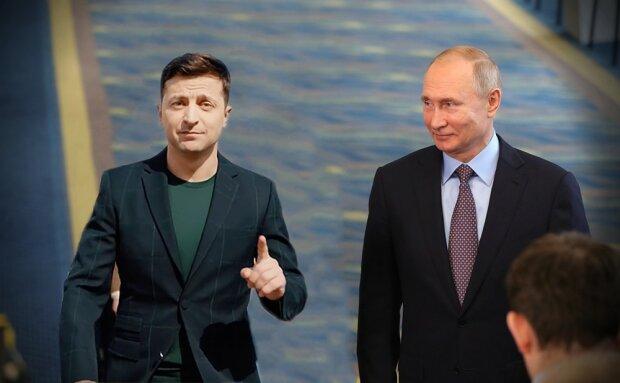 Володимир Зеленський і Володимир Путін, фото з вільних джерел