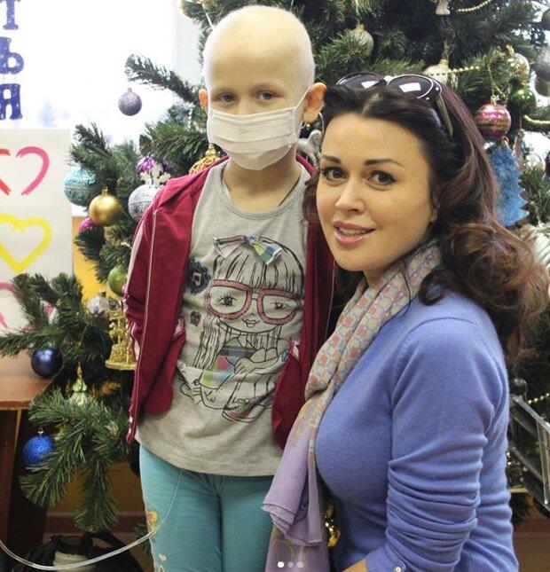 Анастасія Заворотнюк з онкохворими дітьми, Instagram