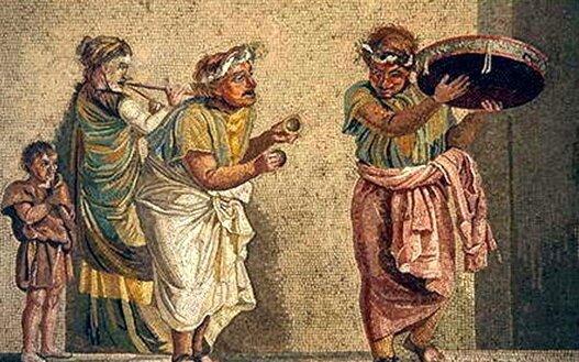 актеры в Древнем Риме, фреска