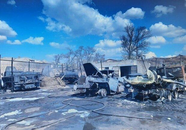 Пожежа на Луганщині, фото штаб ООС