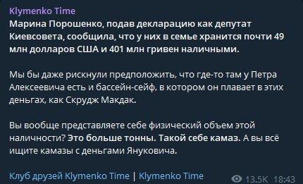 Скріншот публікації Klymenko Time