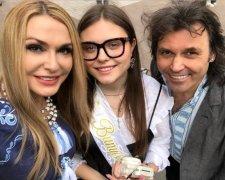 Ольга Сумська з донькою та чоловіком
