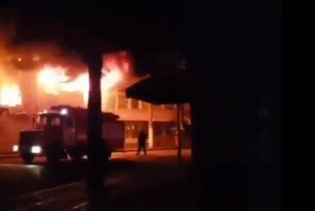 """горел рынок """"Барабашово"""",скриншот из видео"""