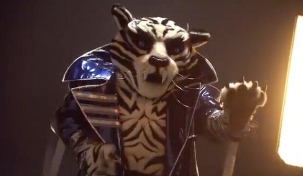 """Білий тигр на шоу """"Маска"""", скріншот"""