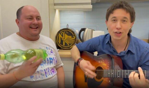 Сергій Бабкін і Юрій Ткач, скріншот з відео