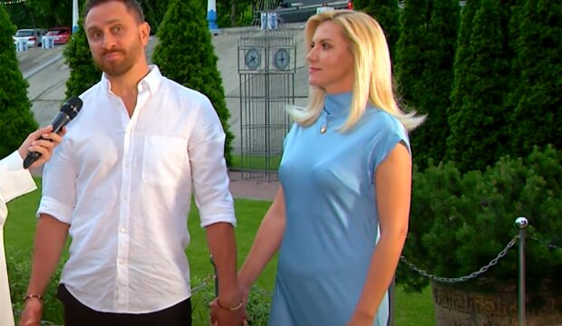 Олег Собчук с женой, скриншот с видео