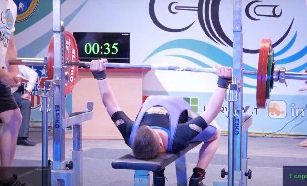 Тернопольский спортсмен покорил Донеччину - 150 килограмм на грудь