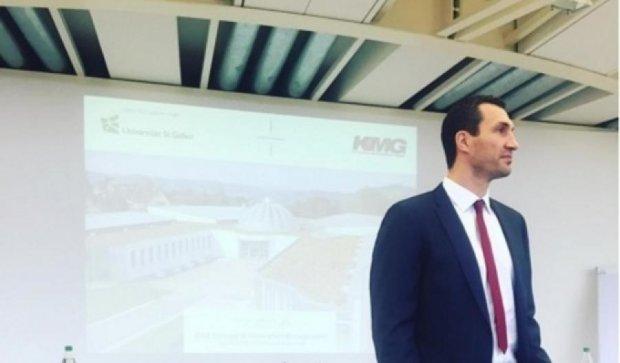 «Професор Кличко» вчить студентів Європи бути успішними