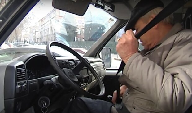 ремень безопасности, скриншот из видео