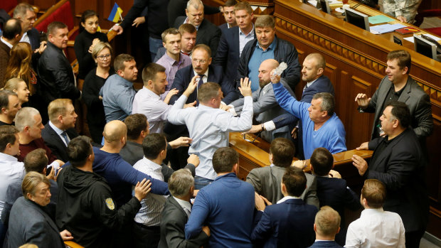 Драка между депутатами