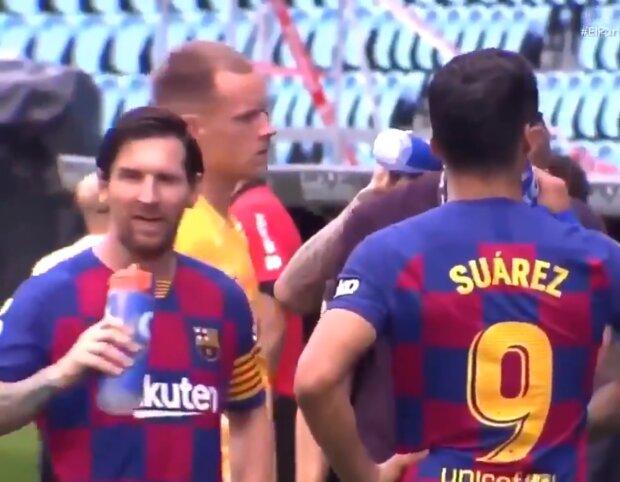 Месси и Суарес, скриншот видео