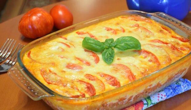Повітряна запіканка з фаршем і овочами - готуємо в духовці за бабусиним рецептом