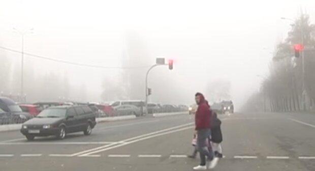 Туман в Киеве, скриншот из видео