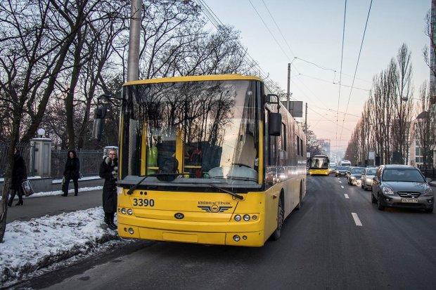 """Бешеный водитель киевского троллейбуса показал, что такое """"вежливость"""" по-украински"""