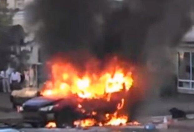 Вбивство Павла Шеремета, скріншот відео