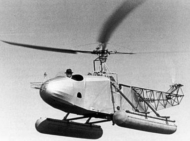 Сикорский на вертолете