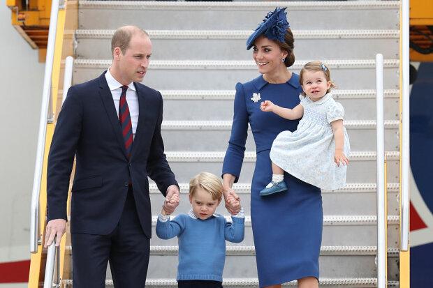 Кейт Міддлтон і принц Вільям з дітьми, фото Gettyimages