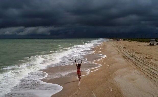 Скрін, відео YouTube Азовське море