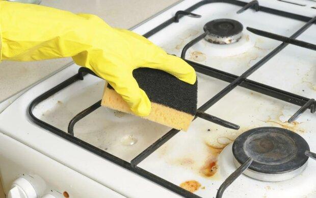 Чистка плиты, фото Sovkusom