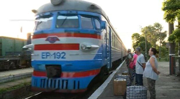 Поезд Укрзализныци, скриншот: YouTube