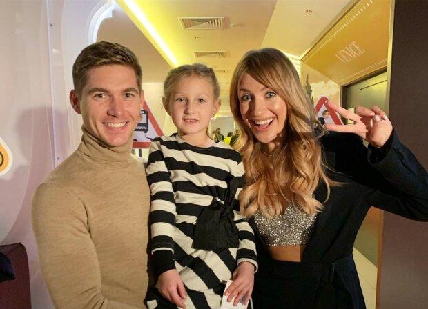 Владимир Остапчук с дочкой и Леся Никитюк, фото: Instagram