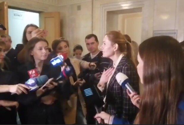 Анна Скороход, скріншот із відео