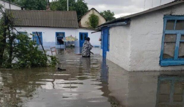 Потоп в Криму, в місті Саки