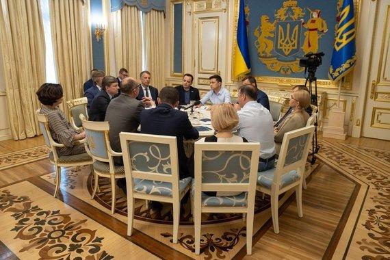 Встреча Владимира Зеленского с лидерами фракций