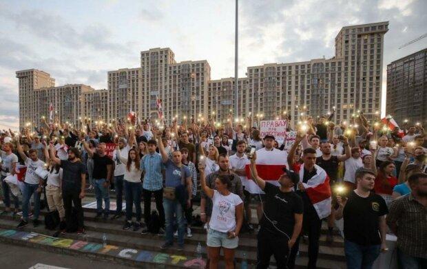 Митинг в Беларуси, скриншот: YouTube