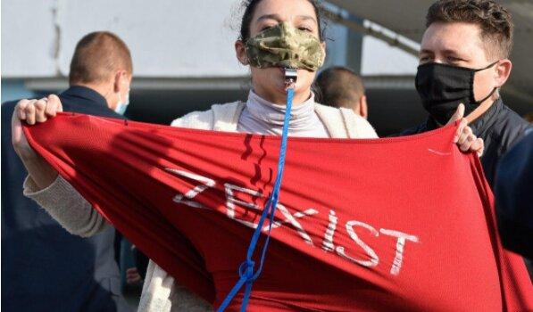 Активістка, фото УНІАН