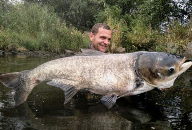 У Дніпрі рибалка вивудив річкове чудовисько розміром з людину - зубища, як у акули