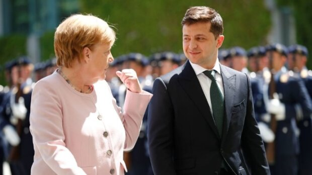 Володимир Зеленський і Ангела Меркель. Фото: Українська правда
