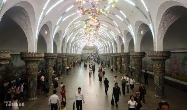 Как выглядит метро в Пхеньяне (фото)