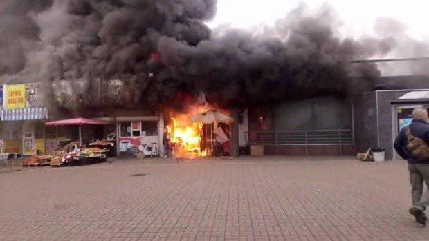 пожежа біля станції Лівобережна у Києві