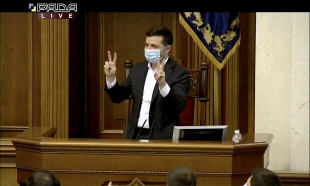 Владимир Зеленский \\ скриншот телеканал Рада