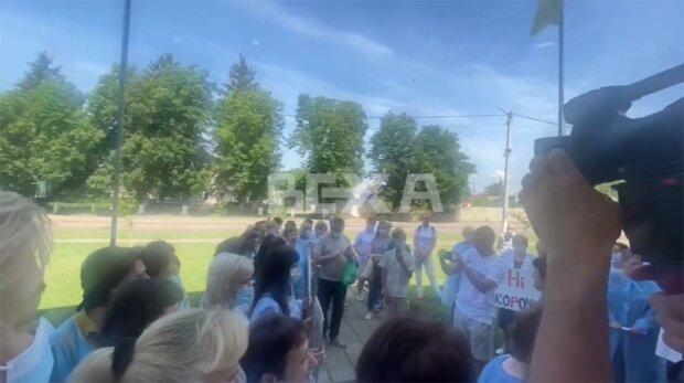 Протест медиків, скріншот із відео
