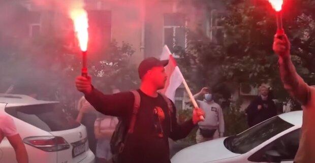Протесты, скриншот: Youtube